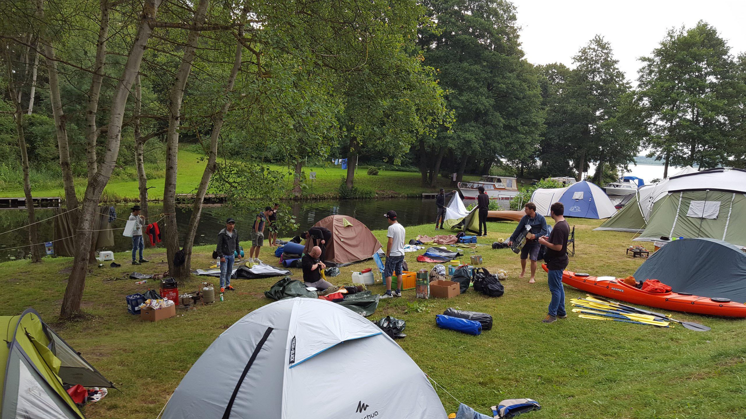 Der Campingplatz der Jugendgruppe auf Ferienfreizeit