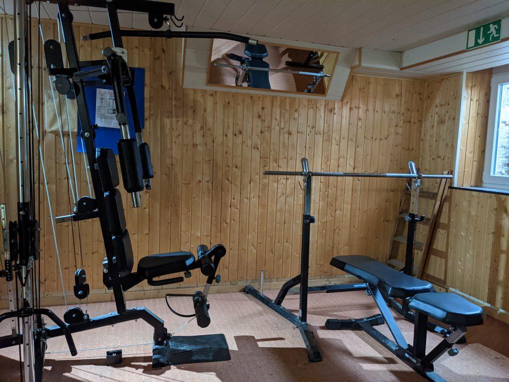 Der Fitnesskeller im Vincenz-Haus